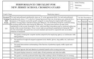 Perform Checklist